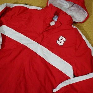 NC State Wolfpack Jacket Coat Red White Hooded